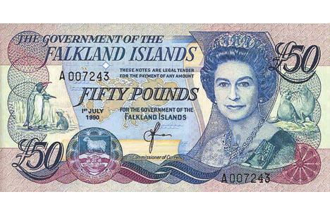 Billetes y Monedas de las Islas Malvinas (falklands)