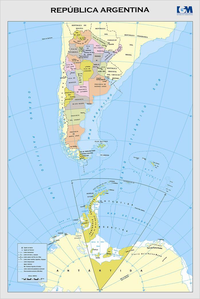El mapa bicontinental es el nuevo mapa oficial argentino
